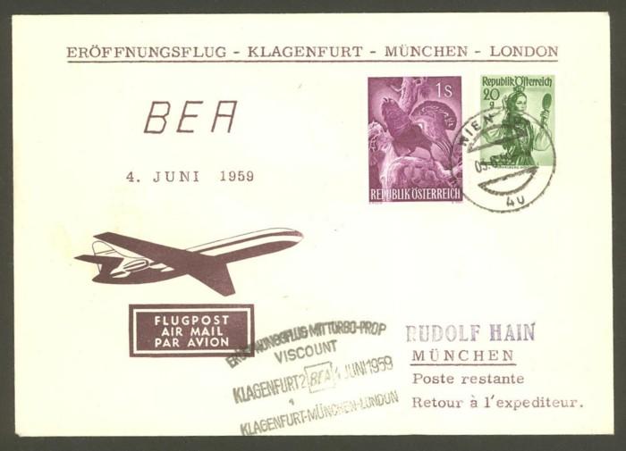 Luftpost,Erstflüge sammeln Bea_kl10