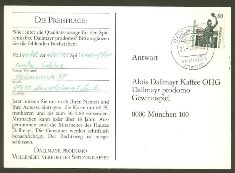 Nachträglich entwertet   -   Stempel aus Deutschland Buchlo10