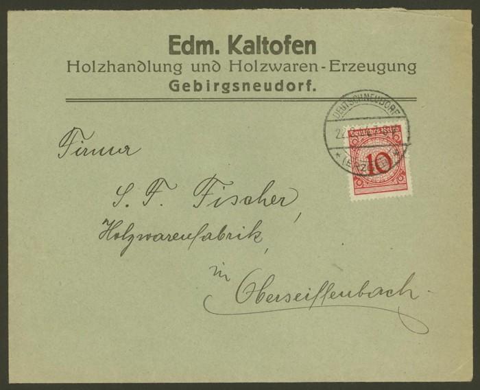 Deutsches Reich  -  Bedarfspost zur Zeit der Rentenmark Dr_kal10