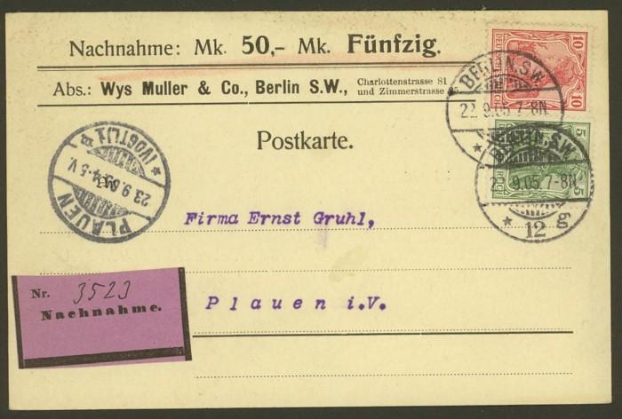 Deutsches Reich  -  Poststücke mit Nachnahme Dr_nac10