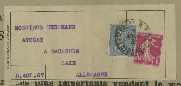 Briefe aus Frankreich   /   1930 - Kriegsbeginn F_6_ad10