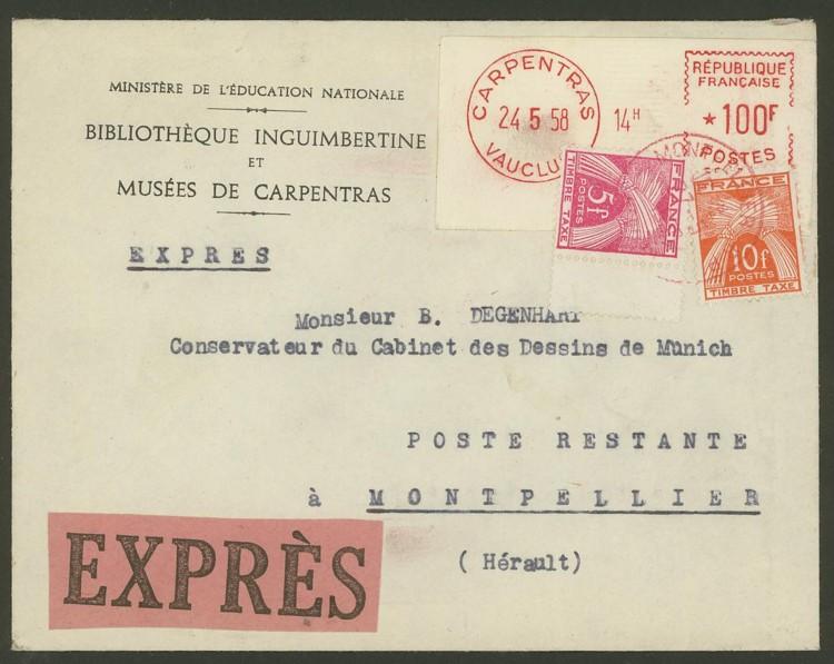 Frankreich  -  Nachporto   /   Sammlung Cantus F_nach11