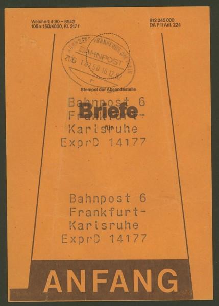 Beutelfahnen der Bahnpost Frankf10