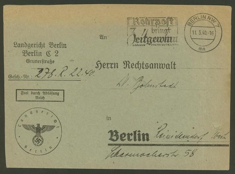 Deutsches Reich - Dienstpost Frei_d10