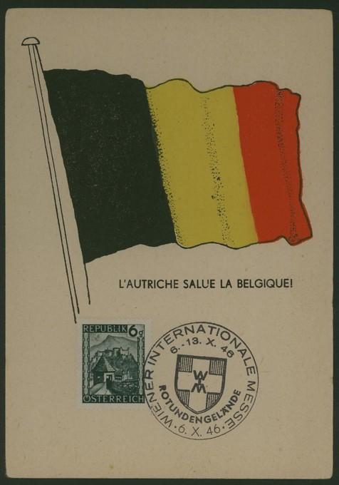 Österreich grüßt Belgien Gedenk10