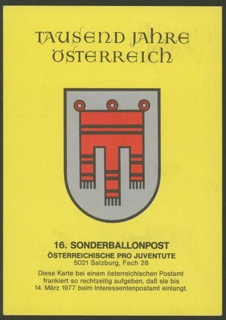 Sonder-Ballonpostflüge I_rs10