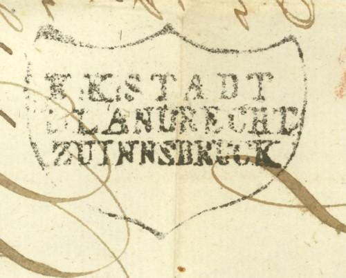 Nachtrag - Vorphilatelie Österreich  -   Briefe aus der Vormarkenzeit Innsbr13