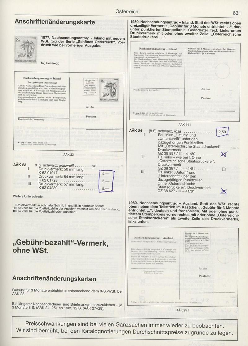 Drucksorten der Post - Nachsendungsantrag Katalo13
