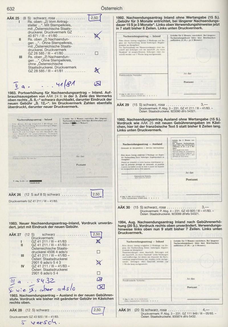 Drucksorten der Post - Nachsendungsantrag Katalo14