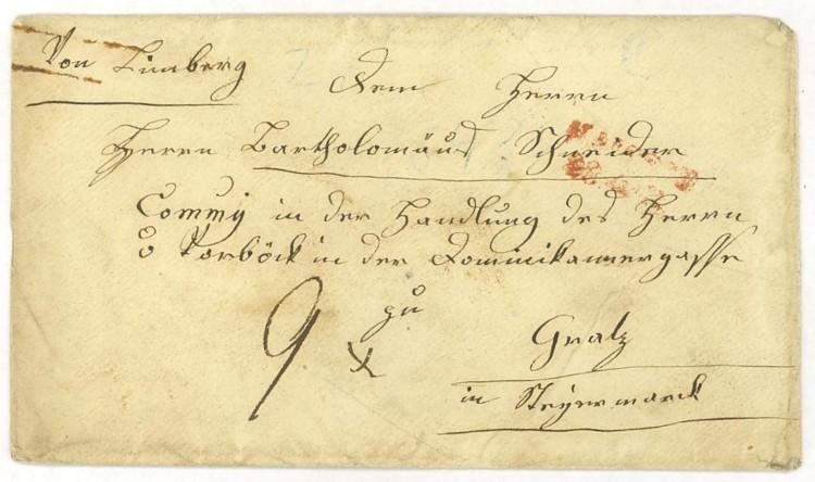 Nachtrag - Vorphilatelie Österreich  -   Briefe aus der Vormarkenzeit Limbur11