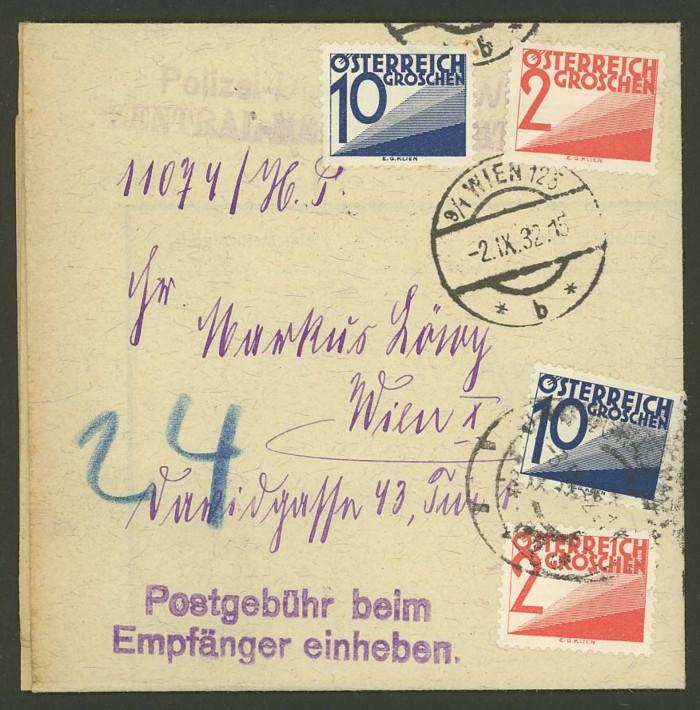 Verwendung von Portomarken in Österreich Nachpo10