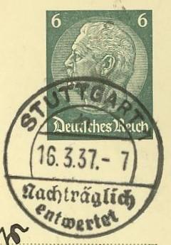 Nachträglich entwertet   -   Stempel aus Deutschland Nachtr11