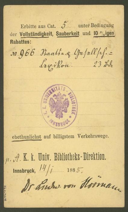 Nachtrag - Bücher, Zeitschriften, Verlage, Buchhandlungen   -   Textzudrucke auf Postkarten P_45_10