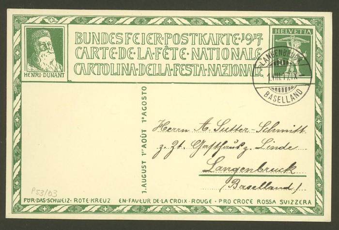 schweiz - Bundesfeierkarten P_53_012