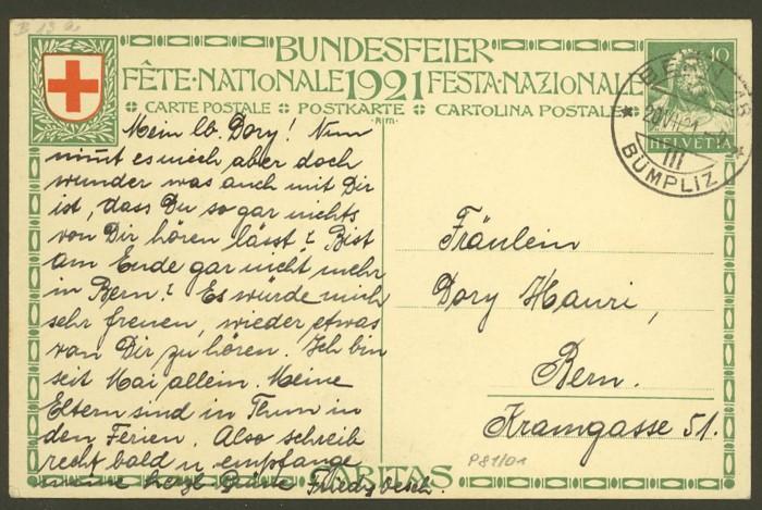 schweiz - Bundesfeierkarten P_81_011