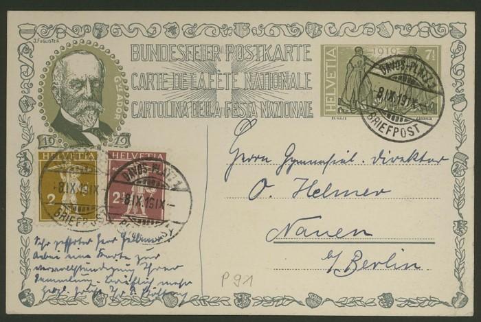 schweiz - Bundesfeierkarten P_91_r10