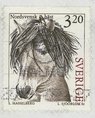 Horses / Pferde (Marken auf Brief oder Karte) Pferd10