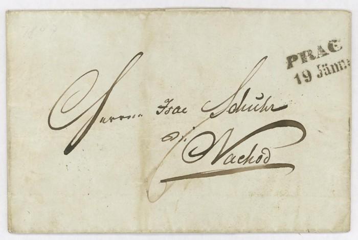 Vorphilatelie Österreich  -   Briefe aus der Vormarkenzeit Prag_n10