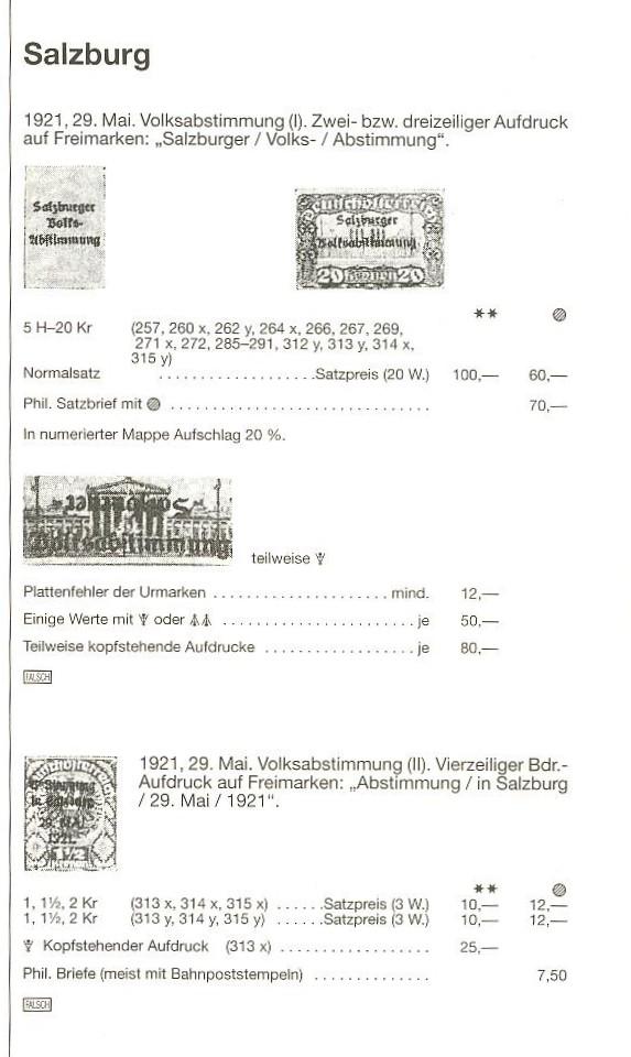 Deutsch-Öst Marke mit nicht katalogisiertem Aufdruck Salzbu10