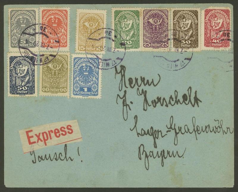 Ältere Briefe von Österreich  -  nett anzuschauen Schan10