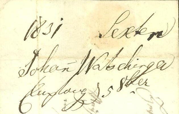 Vorphilatelie Österreich  -   Briefe aus der Vormarkenzeit Sexten11
