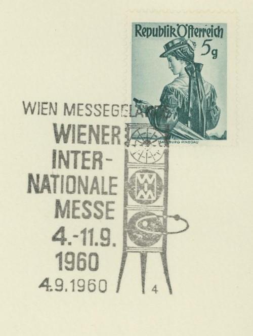 Sonderstempel der Wiener Messe Stpl_w21