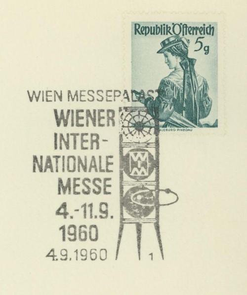 Sonderstempel der Wiener Messe Stpl_w22