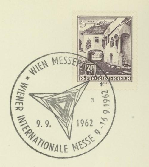 Sonderstempel der Wiener Messe Stpl_w25
