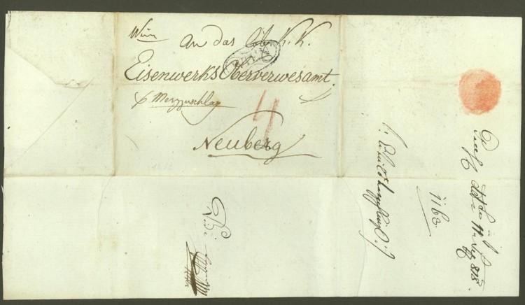 Nachtrag - Vorphilatelie Österreich  -   Briefe aus der Vormarkenzeit Wien-n10