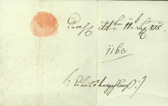 Nachtrag - Vorphilatelie Österreich  -   Briefe aus der Vormarkenzeit Wien-n11