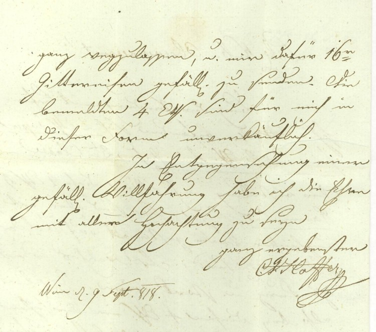 Nachtrag - Vorphilatelie Österreich  -   Briefe aus der Vormarkenzeit Wien-n13