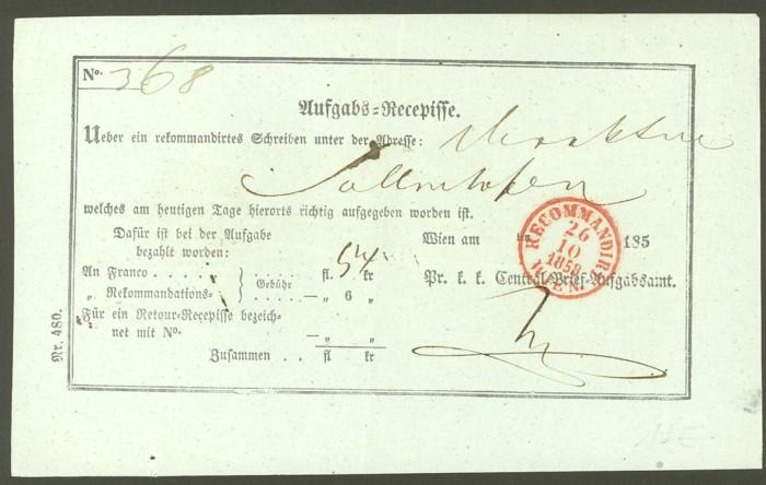 Aufgabe-Recepissen Wien_210