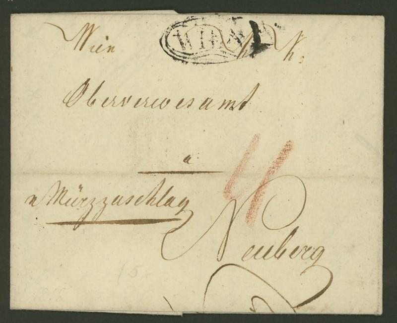 Vorphilatelie Österreich  -   Briefe aus der Vormarkenzeit Wien_n10