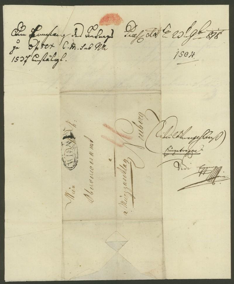 Vorphilatelie Österreich  -   Briefe aus der Vormarkenzeit Wien_n11