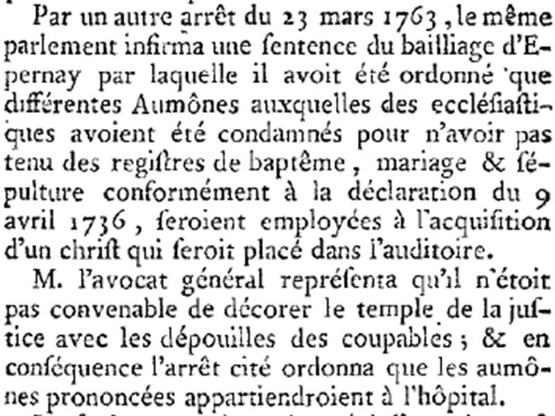 Sentences prononcés par les Bailliages 1763_b10