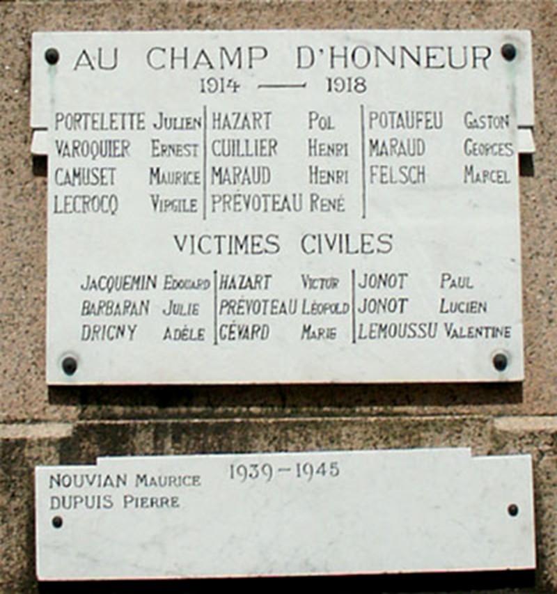 Les Monuments aux Morts Chenay13