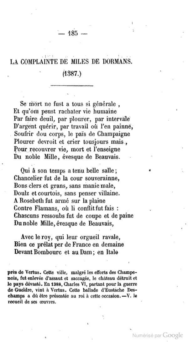 Ballades d'Eustache DESCHAMPS Pa18510