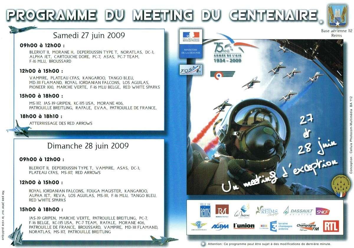 Aéropolis & le Meeting du Centenaire - REIMS 2009 Progra11