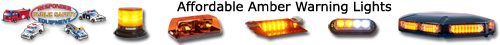 Amber warning lights and led police lights from Responder PSE