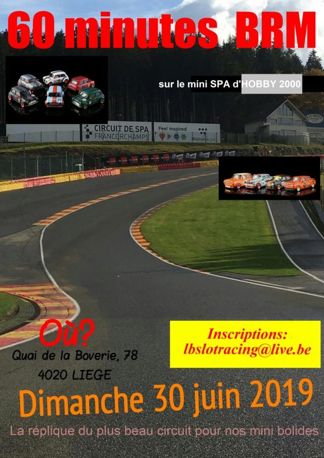 60 minutes BRM mini cars sur SPA à SLOT 4000 le 30 Juin 2019 Magazi13
