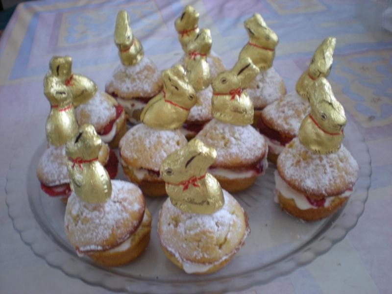 petits gâteaux et leur crème à la fraise Dscn0012