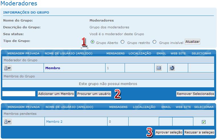 [FAQ] Criar e administrar os Grupos de usuários Grupos16