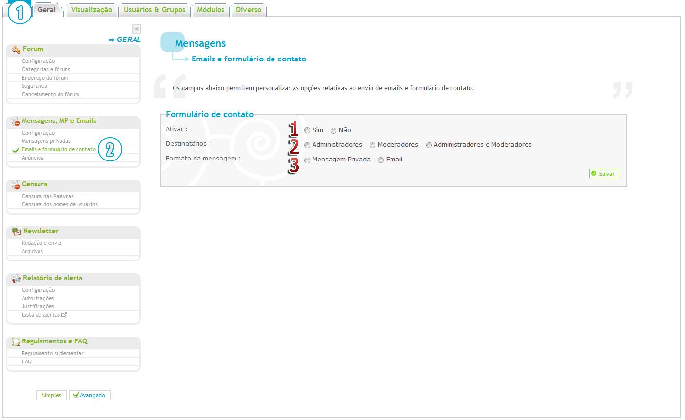 "[FAQ] Configurar a ferramenta ""Fale connosco"" Img122"