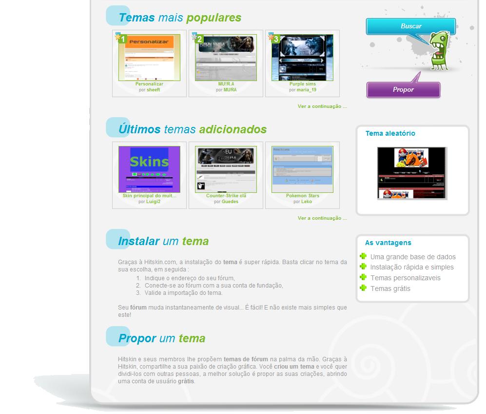 Criar, instalar, eliminar e propor temas no Hitskin.com Img130