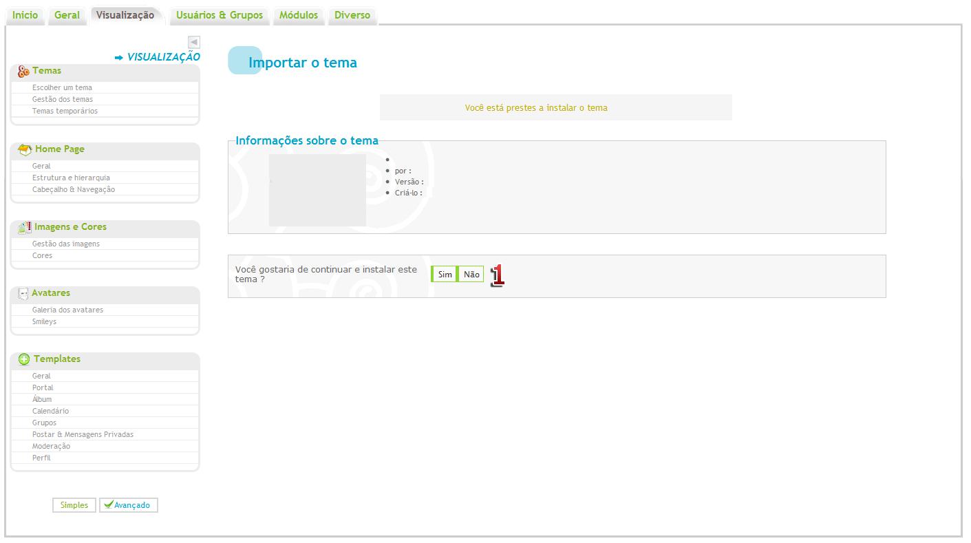 Criar, instalar, eliminar e propor temas no Hitskin.com Img320