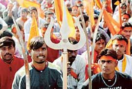 Pictures of Hindu fundamentalists in India 610