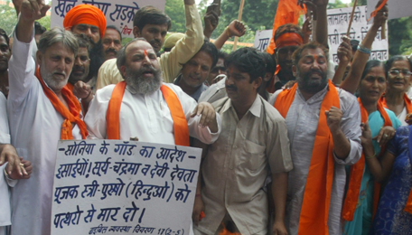 Pictures of Hindu fundamentalists in India Fanati13