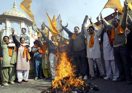 Pictures of Hindu fundamentalists in India Vhp28110