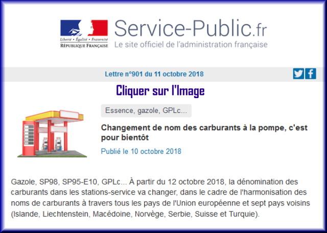 """La lettre N° 901 de """"Service Public"""" pour le 11 Octobre 2018 90110"""