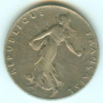 3éme république - 50 centiimes semeuse 1920 argnet 50ct1911